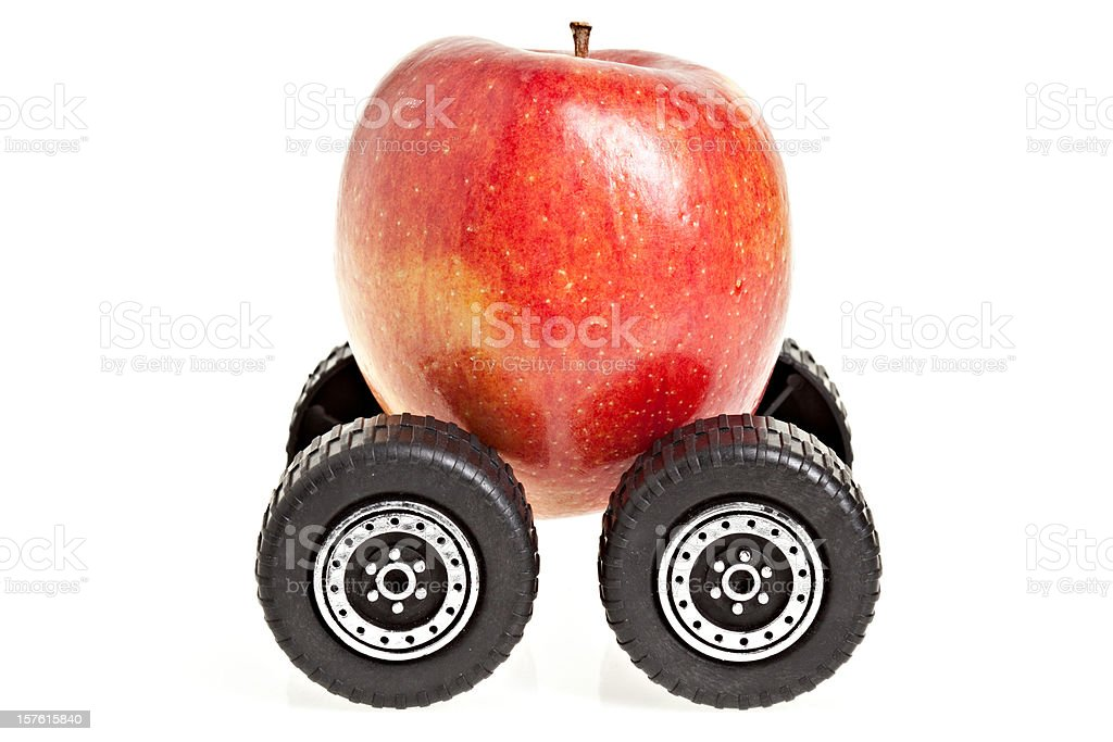 Food Miles Of An Apple royalty-free stock photo