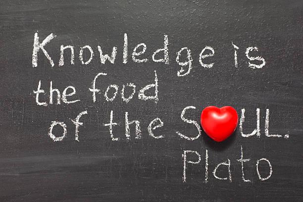 essen für die seele - intelligente zitate stock-fotos und bilder