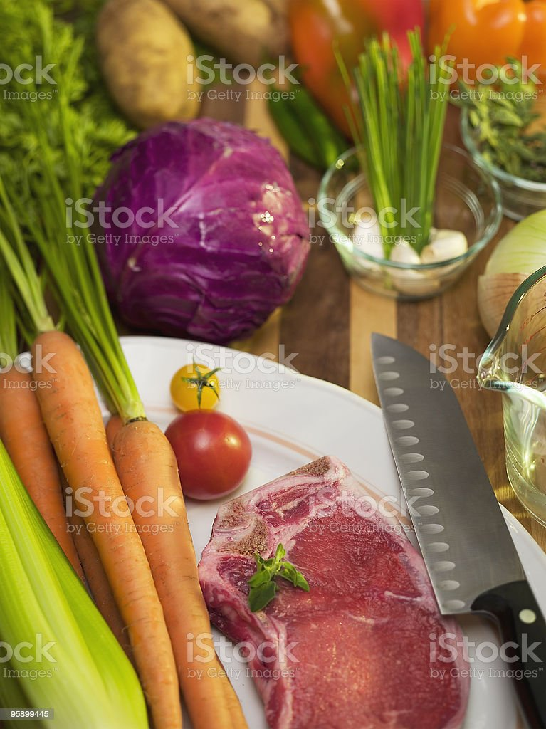 food on a cutting board royalty-free stock photo