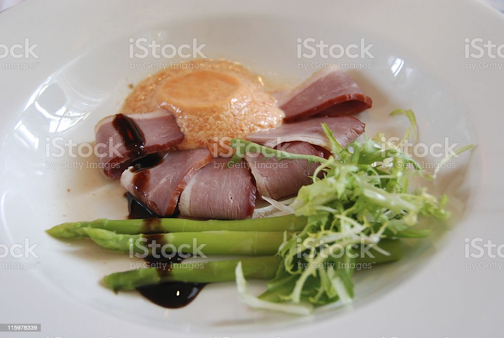 Food on a plate royalty-free stock photo