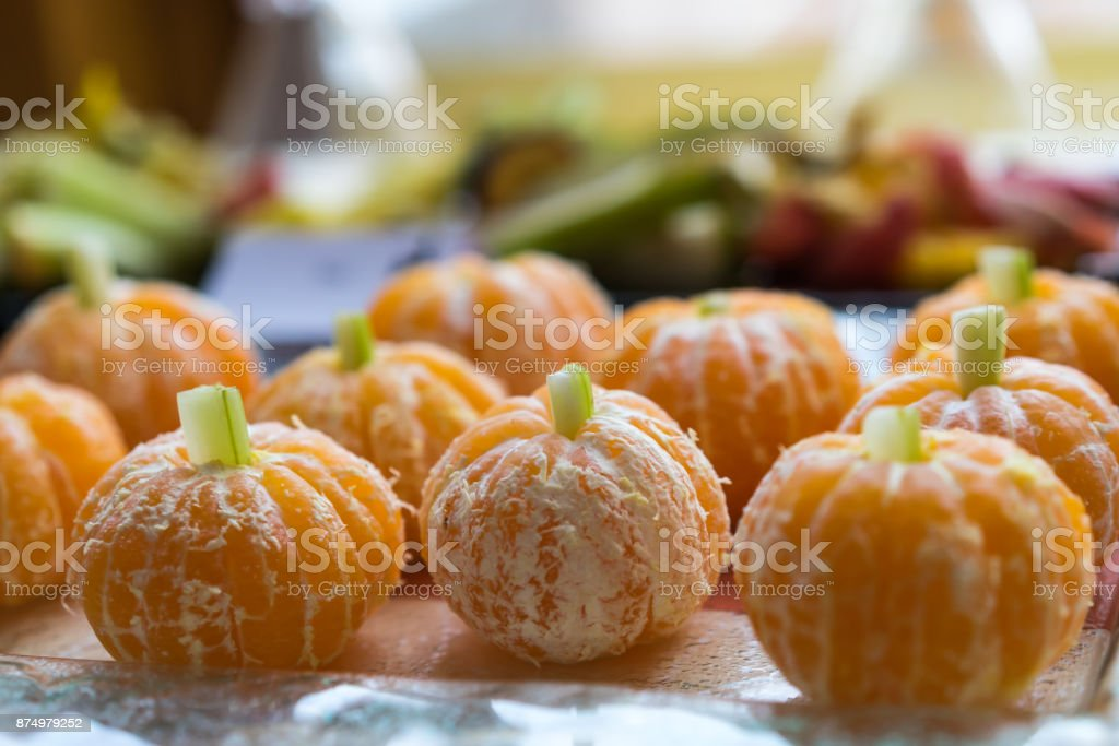 Food on halloween party royalty-free stock photo