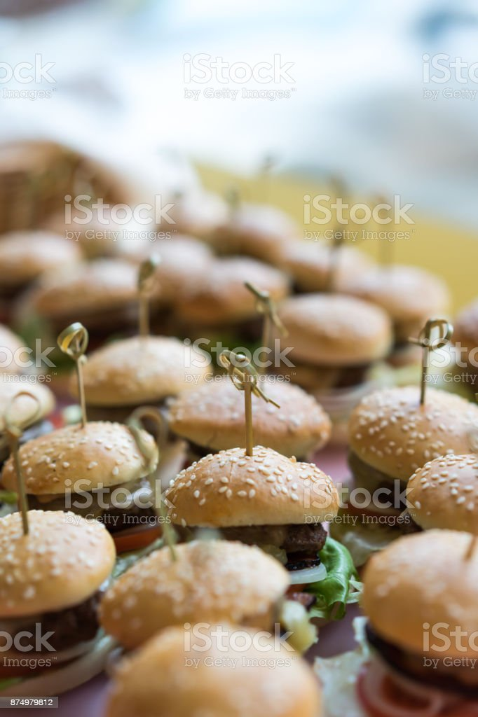 Food on halloween party stock photo