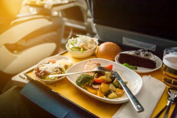 Essen im Flugzeug, Business-Class-Reisen – Foto