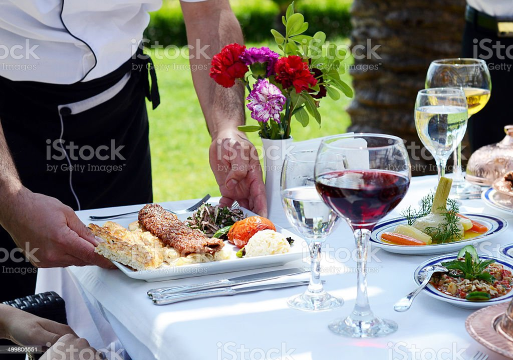 Food on the table royalty-free stock photo