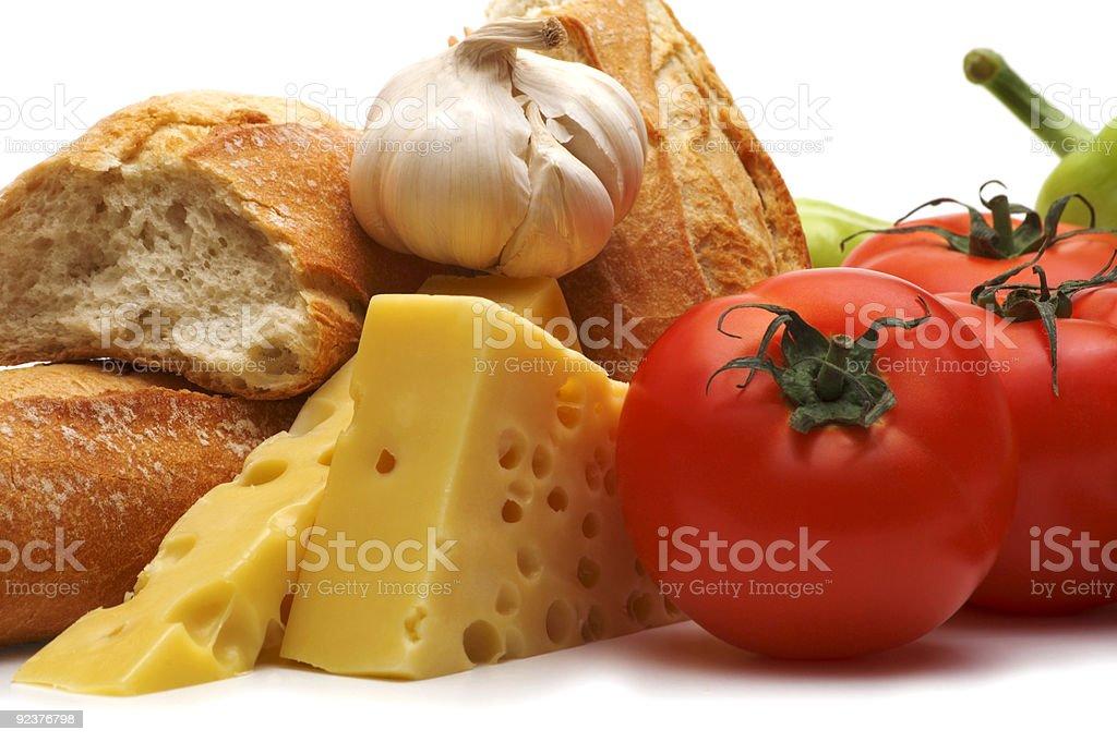 Speisen auf weißem Hintergrund Lizenzfreies stock-foto