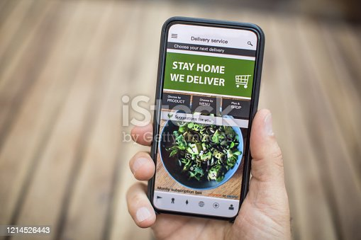 Ordering food online while in home isolation during corona virus quarantine