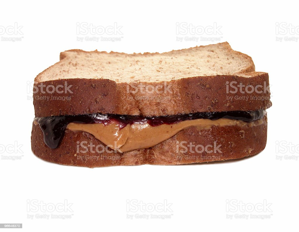 Food: PB&J Sandwich stock photo