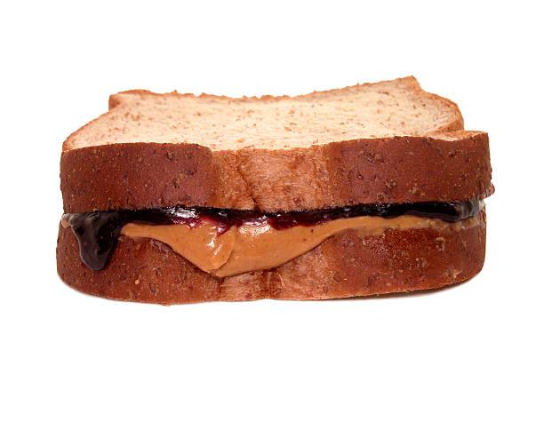 food: pb&j sandwich - peanutbutter bildbanksfoton och bilder