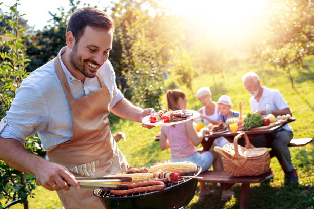Food, people and family time concept stock photo