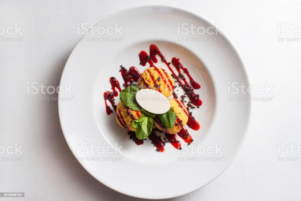 Essen Restaurant Mahlzeit Dessert Rezept Fotokonzept – Foto