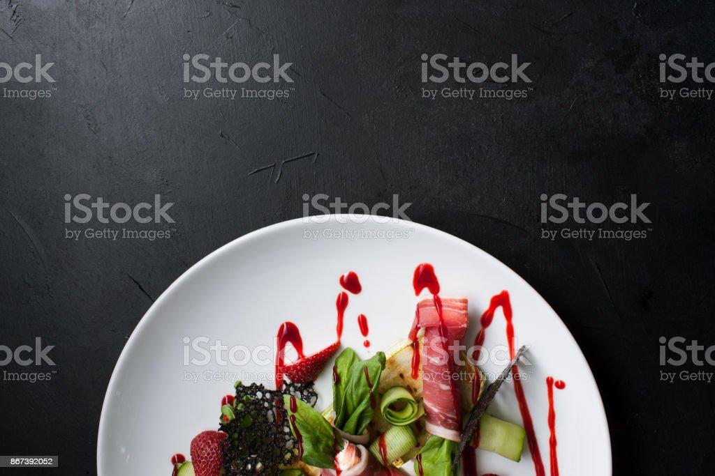 食品写真創造的なレストランの食事のコンセプト ストックフォト