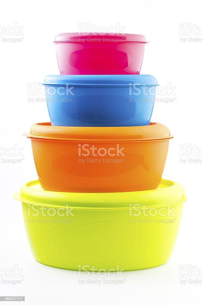 Food plastic container stock photo