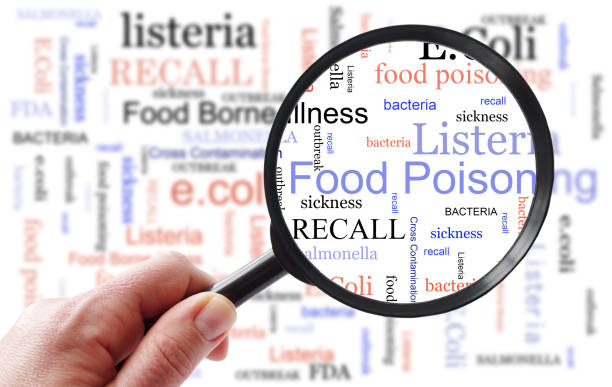 Food Poisoning inspection concept stock photo