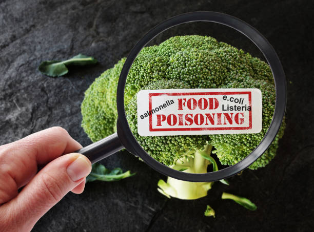 food poisoning label and terms - fda stock photos and pictures