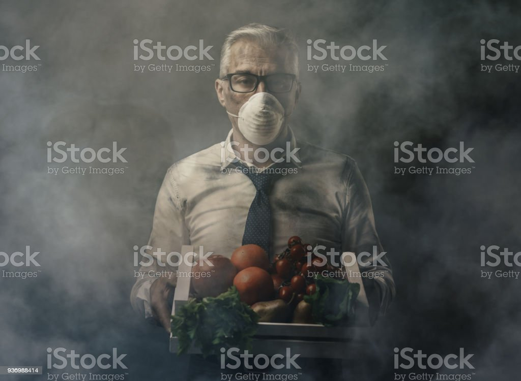 Food pollution and contamination stock photo