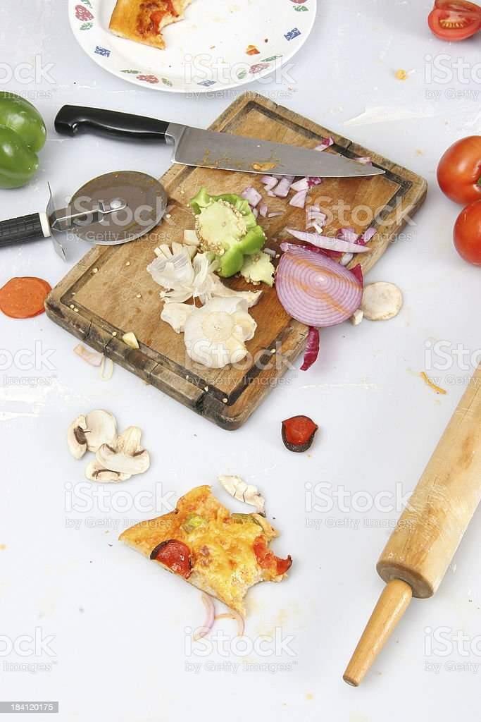 Food Preparation - Cleanup Time 3 royalty-free stock photo