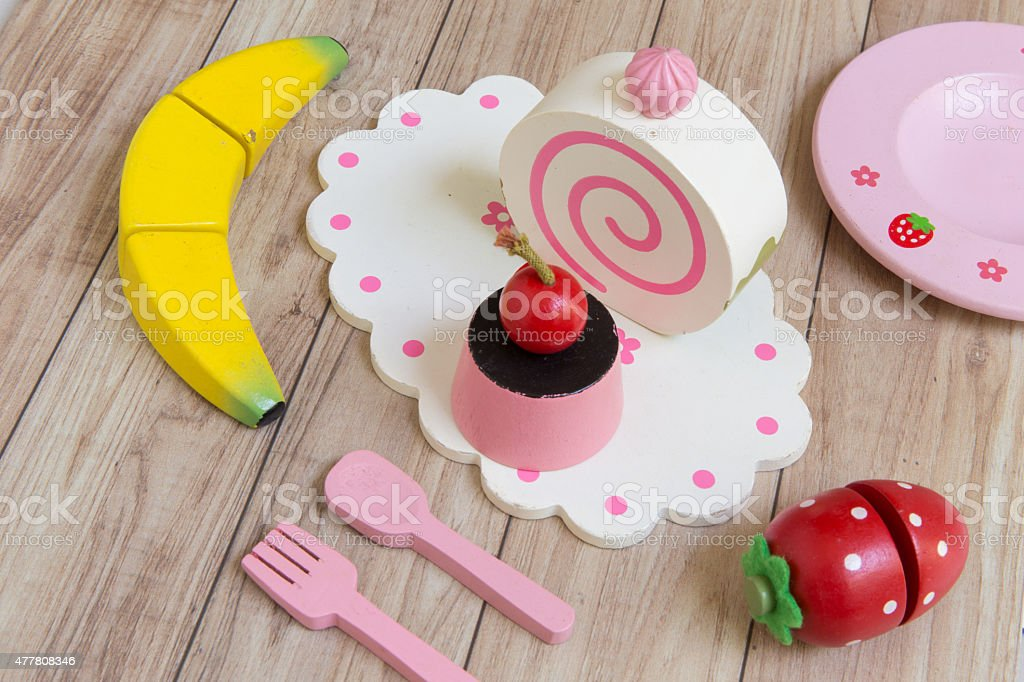 Food Preparation Toy Set for Kids stock photo