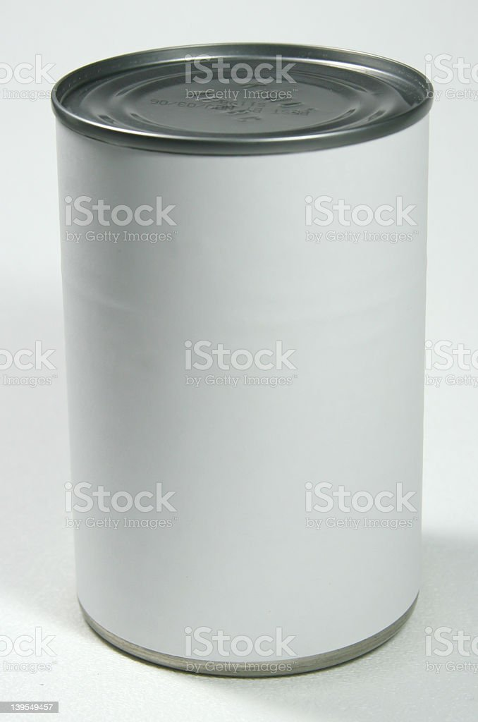 Food Preserves Tin Can royalty-free stock photo
