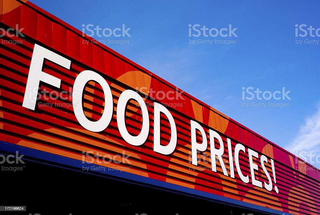 Food prices up! stock photo