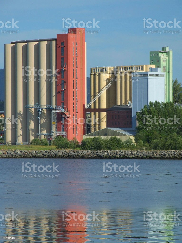 Food processing factory royalty-free stock photo