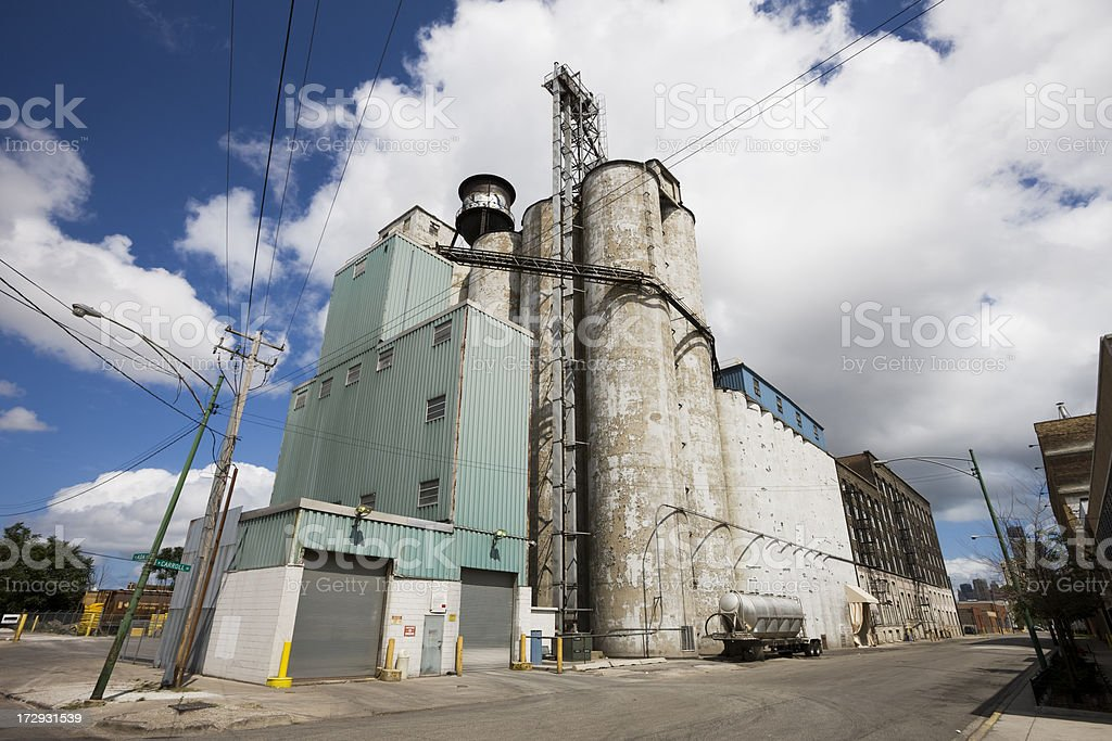Food Processing Plant royalty-free stock photo