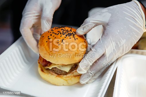 istock Food quality and safety in fast food restaurant 1223327495