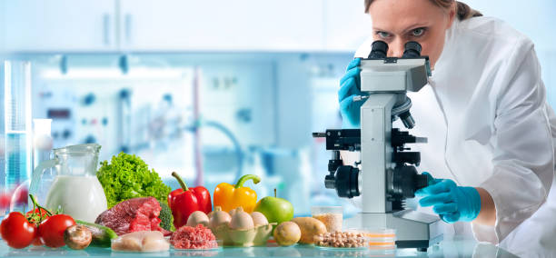 Food quality control concept stock photo