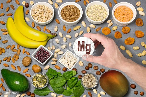 istock Food rich in magnesium (Mg) 910197622