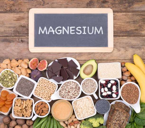 food rich in magnesium - magnesium stock photos and pictures