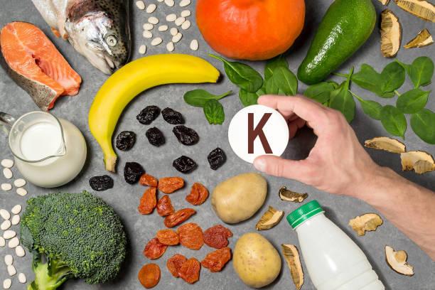 Food rich in potassium stock photo