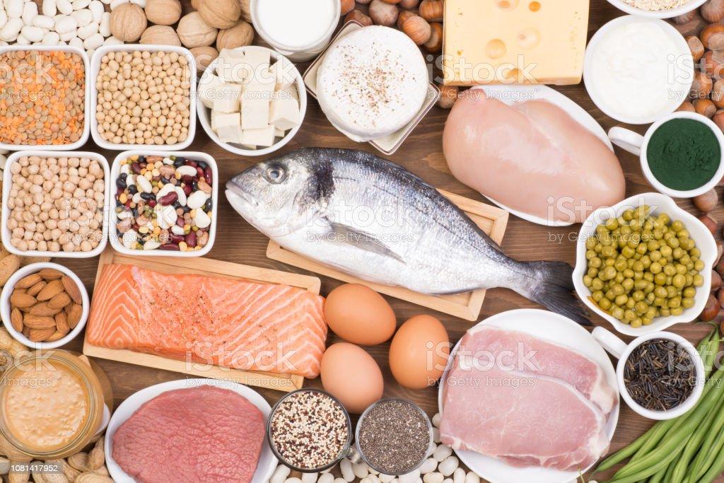 Voedsel rijk aan eiwitten - Royalty-free Afvallen Stockfoto
