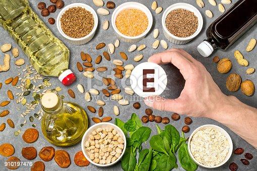 istock Food rich in vitamin E 910197476