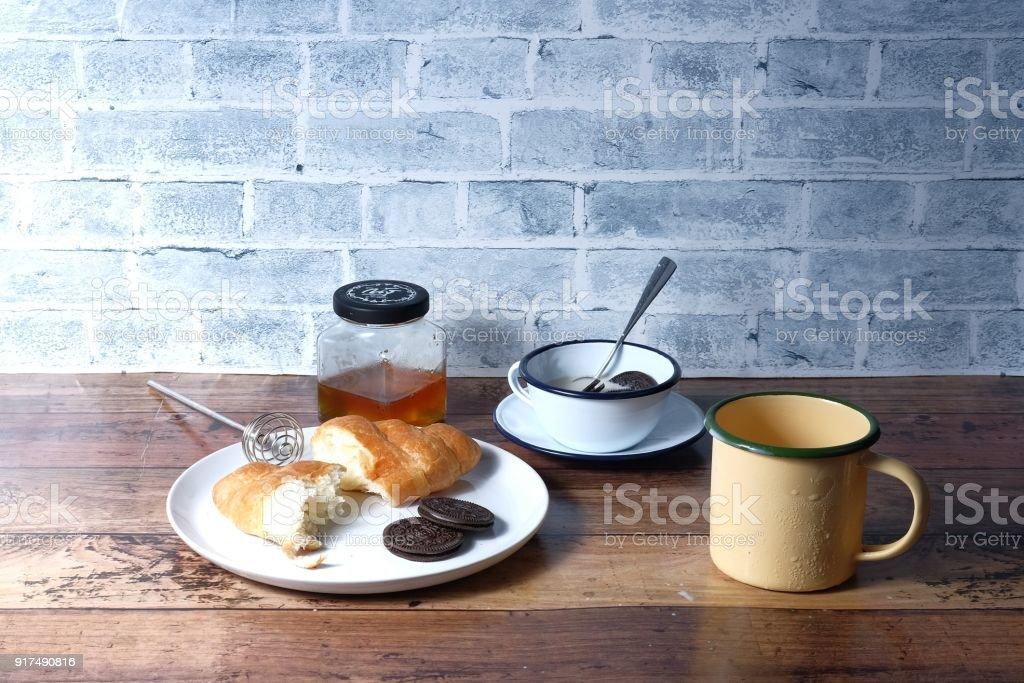 food scene in retro syle stock photo