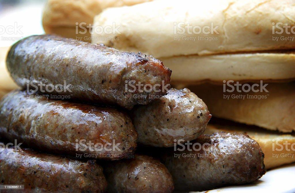 food scene - links and buns stock photo