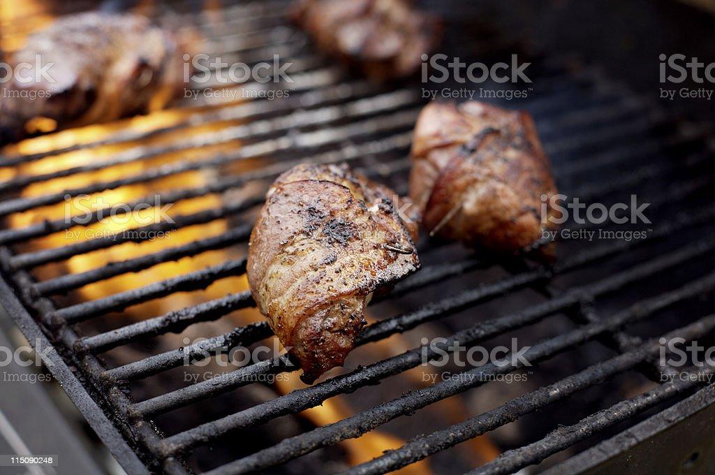 food scenes - venison steaks royalty-free stock photo