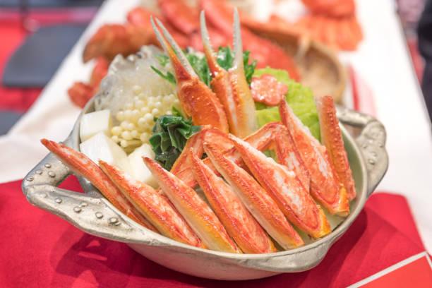 カニの日本の鍋料理 - 北海道 ストックフォトと画像