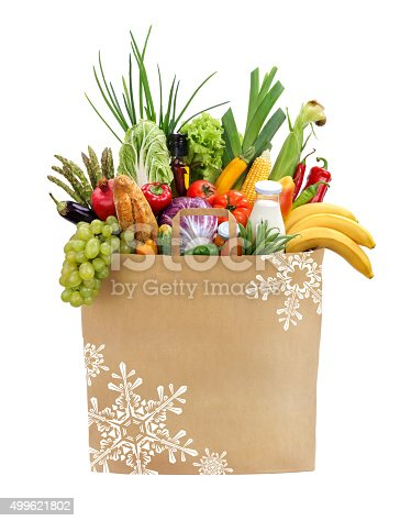 istock Food shopping bag 499621802