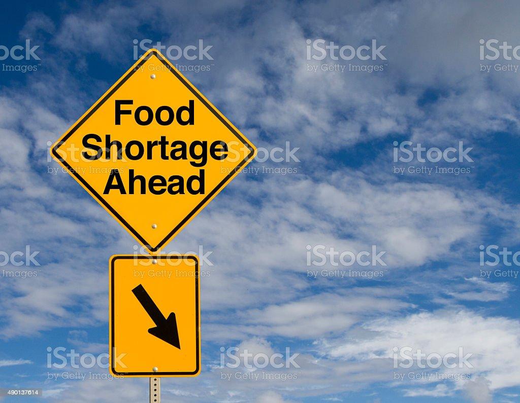 Food Shortage Ahead stock photo