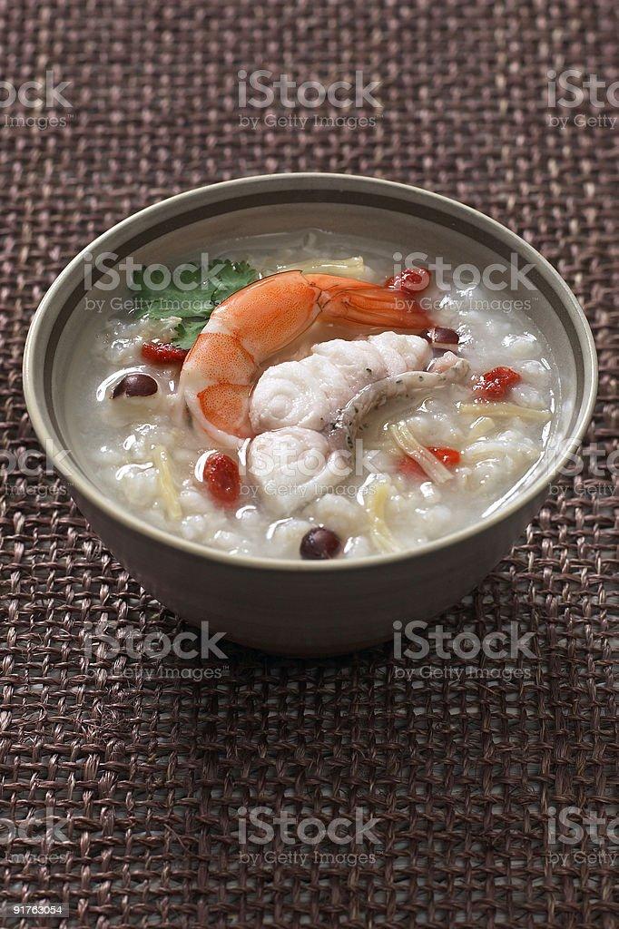 Mets chinois du porridge photo libre de droits