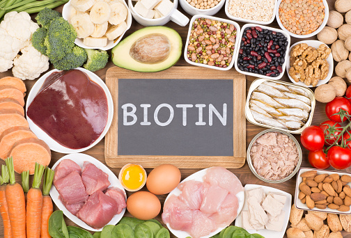 Food Sources Of Biotin Stock Photo - Download Image Now - iStock