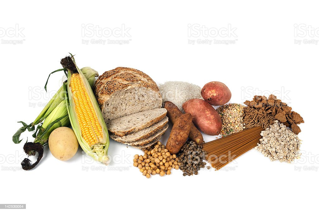 Food Sources of Complex Carbohydrates stock photo