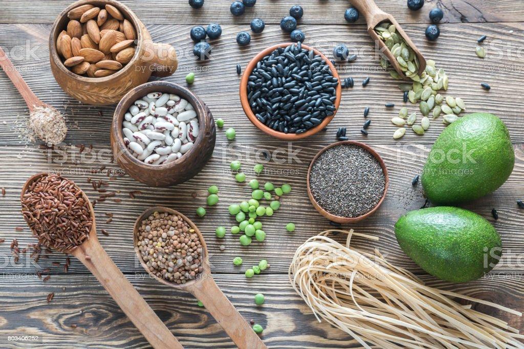 Nahrungsquellen der Faser – Foto