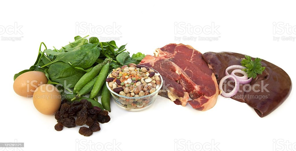 Food Sources of Iron stock photo