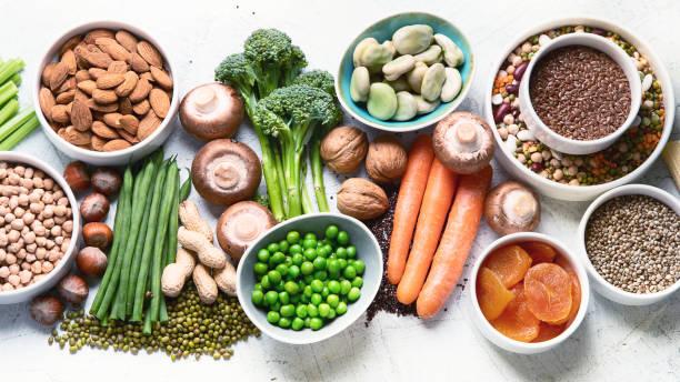 źródła żywności białka roślinnego. - białko zdjęcia i obrazy z banku zdjęć