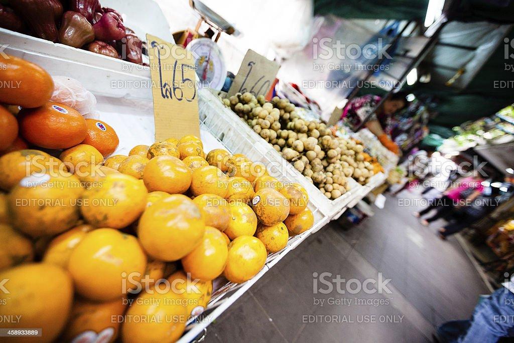 Food stall in Bangkok royalty-free stock photo