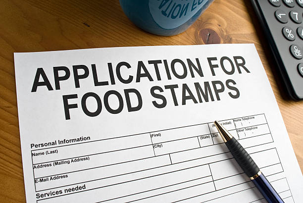 Food Stamp Application stock photo