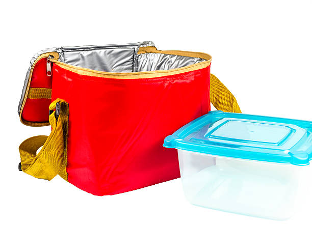 food storage red insulated bag Red insulated bag,food container cooler container stock pictures, royalty-free photos & images