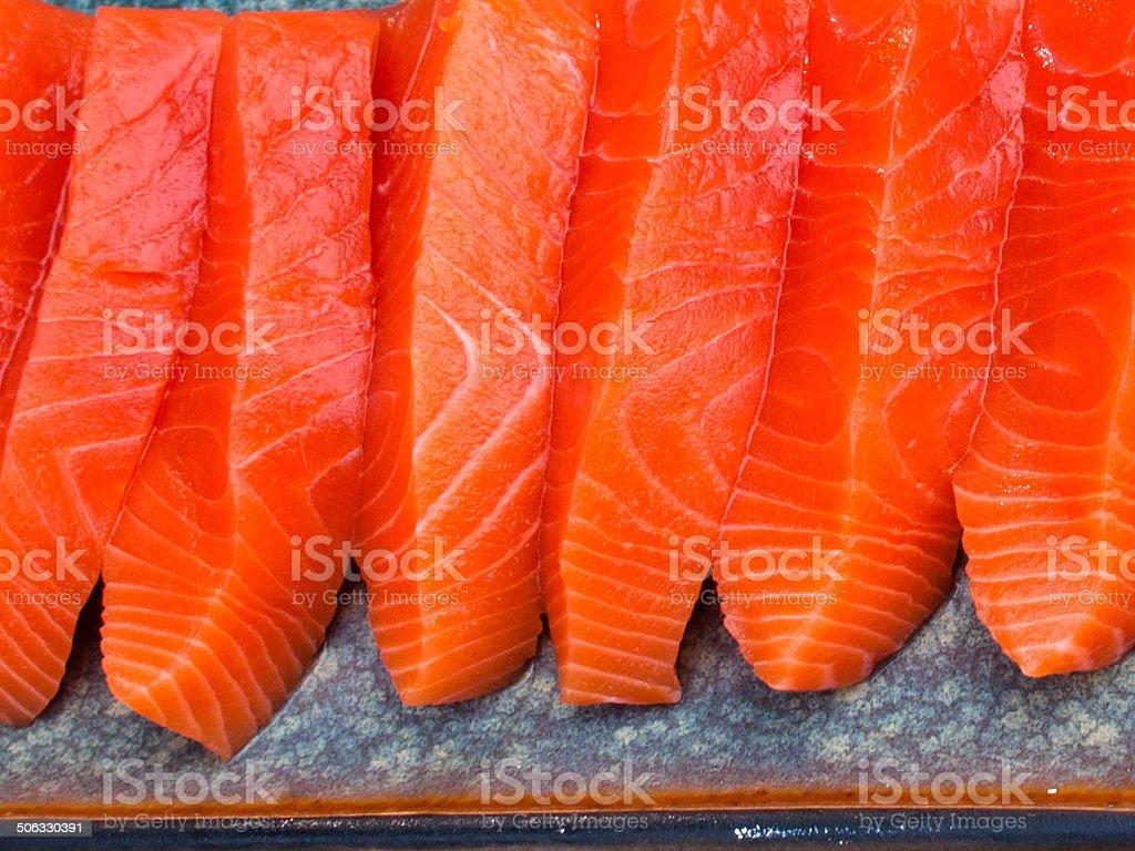 Food - Sushi Wild Salmon royalty-free stock photo