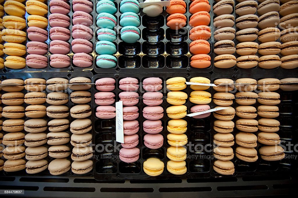 Food sweets speciality - macarons stock photo