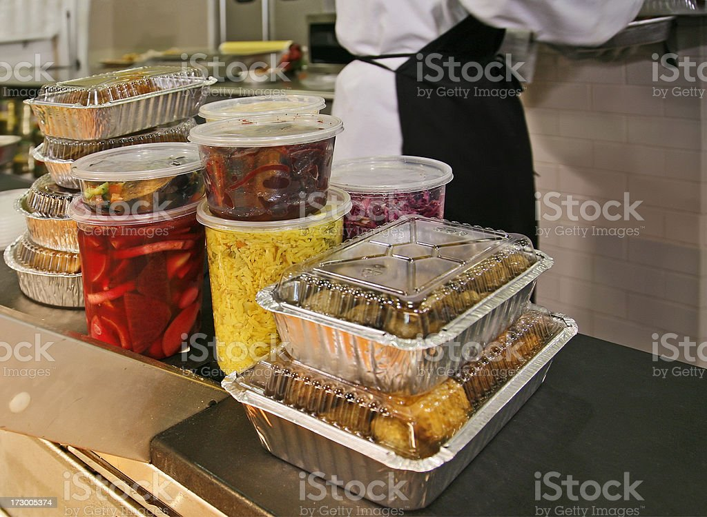 Food takeout order stock photo